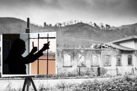 Faccia da libro Chiara Carminati Vecchi Capannoni in Val di Bisenzio, Vernio
