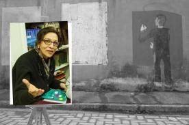 Faccia da libro Anna Cerasoli Graffiti di Artisti di Strada Piazzale Ebensee, Prato
