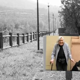 Faccia da libro Margherita Hack Parco Bisenzio al Cavalciotto, Prato