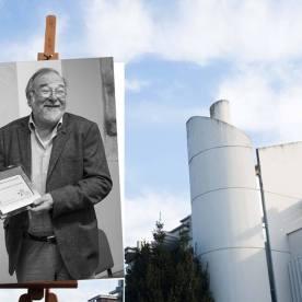 Faccia da libro Roberto Innocenti Viale della Repubblica sotto le nuvole, Prato