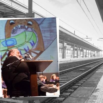 Faccia da libro Roberto Piumini Stazione di Prato Centrale